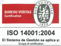 Certificado ISO 14001 - Grupo ONE Facility Services