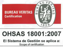 Certificado OHSAS 18001 - Grupo ONE Facility Services